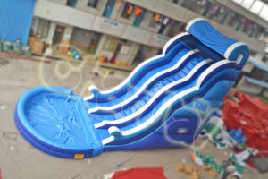 Hot Sale Blue Ocean Wave Inflatable Slide Water Slide pictures & photos