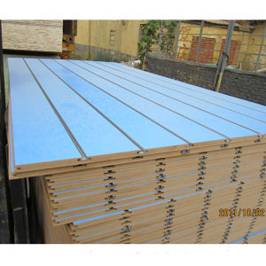 1220*2440mm Hot Sale MDF Slatwall/ Slotboard 18mm pictures & photos