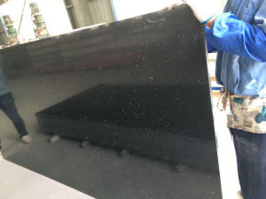 Black Color Quartz Slab for Kitchen Tops pictures & photos
