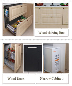 Modern Design PVC Kitchen Cabinets Vinyl Wrap Kitchen Furniture (zc-045) pictures & photos