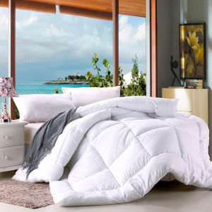 Soft White Cotton Fabric Filling with Silicon Fiber Hollow Quilt