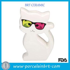 Cool Cat White Ceramic Money Box pictures & photos