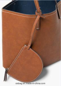 New Fashion Double Color Shoulder Bag PU Tote Bag pictures & photos