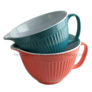 2PCS Bicolor Melamine Mixing Bowl with Handle (BW271) pictures & photos