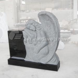China Shanxi Black Granite Angel Monument, Tombstone (EMA-023)