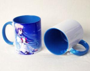 11oz Light Blue Wholesale Inner & Rim Color Mug pictures & photos