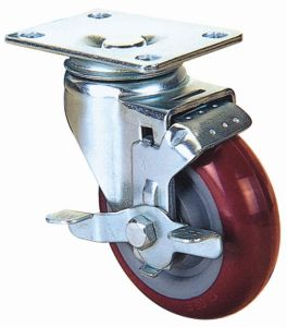 Swivel Industrial PU Caster Wheel (Red) pictures & photos
