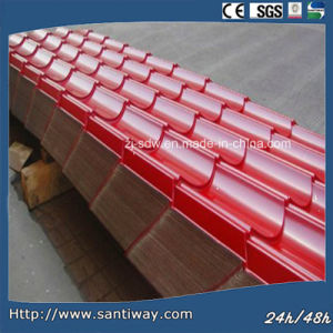 Red Corrugated Roof Metal Tiels pictures & photos