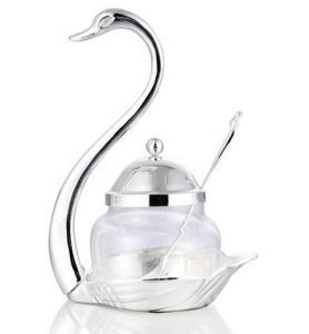 Swan Shape Crystal Sugar Bowl pictures & photos