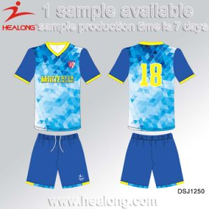 Healong Top Sale Customized Sublimation Quick Dry Football Jersey pictures & photos