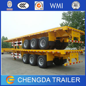 3 Axle 40 Tons Flatbed Container Semi Trailer pictures & photos