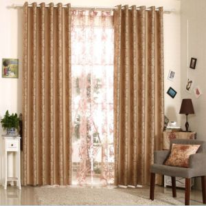 Simple Style Yarn Dyed Jacquard Fabric Curtain (MX-174) pictures & photos