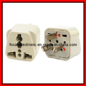 Grounded Universal Plug Adapter Type I for Australia, New Zealand, China pictures & photos