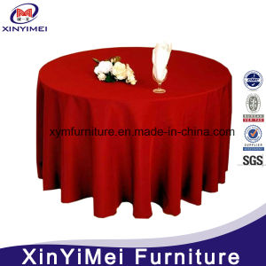 Wholesale White Round Plain Polyester Wedding Table Cloth pictures & photos