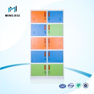 Mingxiu High Quality 10 Door Steel Cabinet Clothes Locker / Steel Locker Cabinet pictures & photos