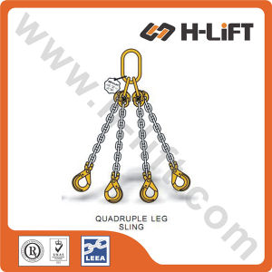 Grade 80 Chain Sling Quadruple Leg Sling with Clevis Self Locking Hook pictures & photos