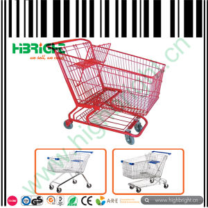 Retail Store Zinc Plated Hand Push Hand Trolley pictures & photos