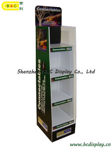 Energy Saving Lamp Paper Display, LED Cardboard Display (B&C-A075) pictures & photos