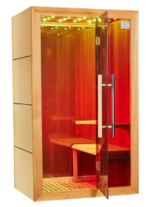 Hot Canadian Cedar Wood Sexy LED Light Far Infrared Sauna Room I-010 pictures & photos