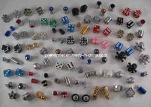 Car Bike Tire Tyre Valve Dust Cap 8 Ball Dice Skull Bullet Grenade Promotional Customized pictures & photos