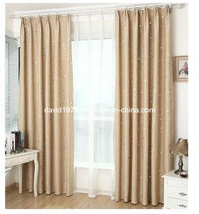 Star Shiny Blackout Pinch Pleated Window Curtain (SZSMEBP045)