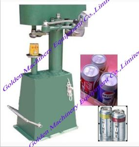 Semi-Auto Drink Bottle Metal Cover Locking Capping Machine pictures & photos