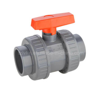 UPVC Double Union Ball Valve for Pool Swimming with ISO9001 (ANSI, SCH80) pictures & photos