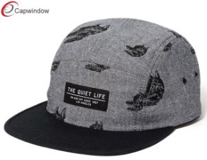 Gray Camping Cap with Woven Label Custom Hat (07033) pictures & photos