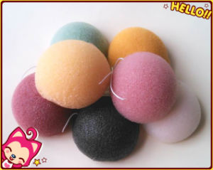 Natural Soft Jelly Facial Cleansing Konjac Sponge with Many Colors and Shapes pictures & photos