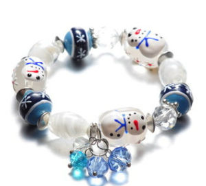 Christmas Jewelry/Christmas Bracelet/Glass Snowwhite (XBL13125) pictures & photos