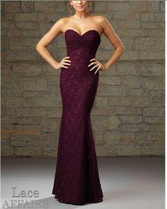 2015 Fashion Lace Mermaid Fushia Bridesmaid Dresses Bd726 pictures & photos