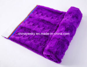 Plush Embossed PV Fleece Fabric pictures & photos