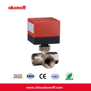 3-Way Brass Motorized Ball Valve (DQ320) pictures & photos