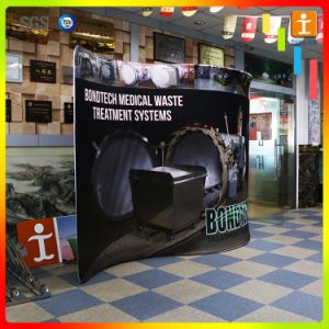2016 10FT Horizontal Curved Tension Fabric Exhibition Display pictures & photos