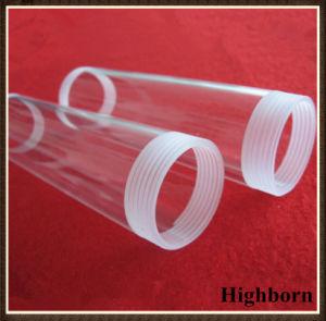 Clear Screw Thread Fused Quartz Glass Tube Pipe pictures & photos