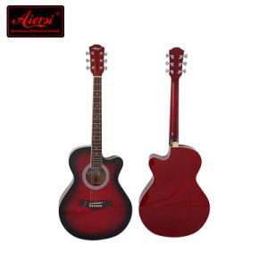 Aiersi Brand Cutway Lindenwood Body Colour Acoustic Guitar (SG026C-36) pictures & photos