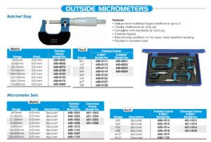 0-25mmx0.01mm Rachet Stop Outside Micrometers pictures & photos