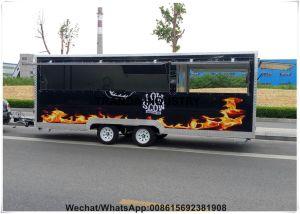 Smokeless BBQ Camper Frozen Yogurt Catering with Shelves Burger Van with Range Hood pictures & photos
