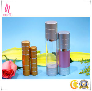 Aluminum Pump Airless Bottle with Cap for Cosmetic Packaging pictures & photos
