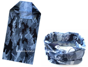China Factory Produce Custom Blue Polyester Multifunctional Seamless Snowboard Scarf pictures & photos