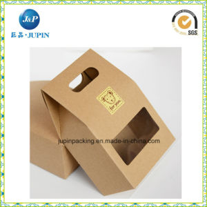 Wholesales Custom Kraft Paper Candle Box with Clear Window (JP-box019) pictures & photos
