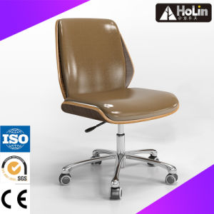 MID Back Office Fabric Chair with Wood Cover pictures & photos