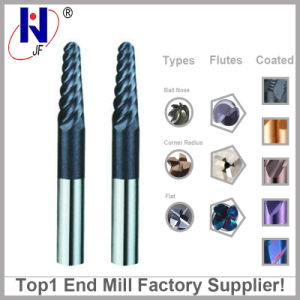 HRC55 Tungsten Solid Carbide Coated Tapered Ball Nose End Mills pictures & photos