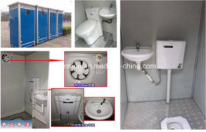 Mobile Convenient Mobile Prefabricated/Prefab Toilet in The Street pictures & photos