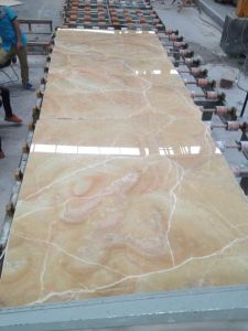 Polished Marble Slab Honey Onyx for Flooring Tile or Wall pictures & photos