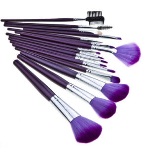 16PCS Cosmetic Makeup Brushes Kit with Purple Bag Case pictures & photos