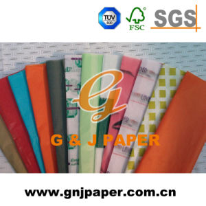 C Fold Printed Tissue Wrapping Paper with Customized Images pictures & photos