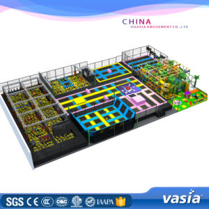 TUV Approved Trampoline Park with Playground for Play Center pictures & photos