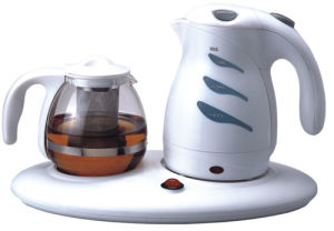 Plastic Electric Kettle with Glass Teapot (HY-2070)