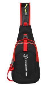 Custom Black and Red Outdoor Nylon Sports Chest Bag Men pictures & photos